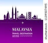 malaysia travel destination | Shutterstock .eps vector #1139507495
