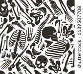human skeleton seamless... | Shutterstock . vector #1139507708