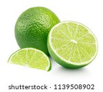citrus lime fruit with slice... | Shutterstock . vector #1139508902