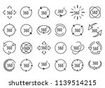 full rotation icons. thin line... | Shutterstock .eps vector #1139514215