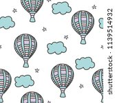 seamless cute pattern with sky  ... | Shutterstock .eps vector #1139514932