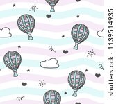 seamless cute pattern with sky  ... | Shutterstock .eps vector #1139514935