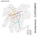 metro de santiago vector map | Shutterstock .eps vector #1139518892