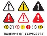 danger sign  warning sign ... | Shutterstock .eps vector #1139523398