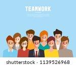 brainstorming people concept... | Shutterstock .eps vector #1139526968
