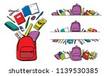 colorful cartoon school... | Shutterstock .eps vector #1139530385