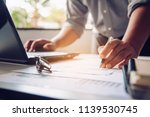 business people are working on... | Shutterstock . vector #1139530745