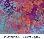 contemporary art. hand made art.... | Shutterstock . vector #1139535362