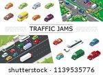 isometric traffic jam concept...   Shutterstock .eps vector #1139535776