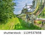 big metal gas pipeline... | Shutterstock . vector #1139537858