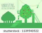 people are harvesting. abstract ... | Shutterstock .eps vector #1139540522