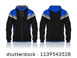 hoodie shirts template.jacket...   Shutterstock .eps vector #1139543528