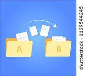 file transfer   data transfer... | Shutterstock .eps vector #1139544245