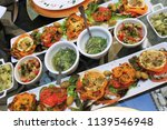 salades traditionnelles... | Shutterstock . vector #1139546948