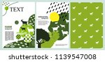agricultural brochure layout... | Shutterstock .eps vector #1139547008