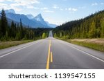 scenic road in the canadian... | Shutterstock . vector #1139547155