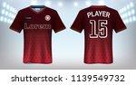 soccer jersey and t shirt sport ... | Shutterstock .eps vector #1139549732