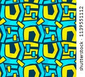 geometric curved lines graffiti ...   Shutterstock .eps vector #1139551112