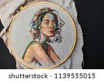 beautiful handmade embroidery... | Shutterstock . vector #1139555015