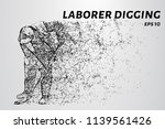 the laborer digging consists of ... | Shutterstock .eps vector #1139561426