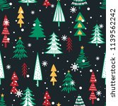 seamless pattern with fir trees.... | Shutterstock .eps vector #1139562242