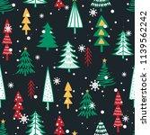seamless pattern with fir trees.... | Shutterstock .eps vector #1139562242