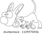 cartoon dog character vector | Shutterstock .eps vector #1139570456