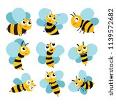 bee vector collection design | Shutterstock .eps vector #1139572682