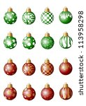 several red and green christmas ... | Shutterstock . vector #113958298
