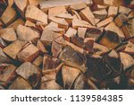 preparation of firewood for the ... | Shutterstock . vector #1139584385