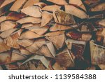 preparation of firewood for the ... | Shutterstock . vector #1139584388