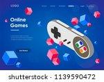 concept of online games.... | Shutterstock .eps vector #1139590472