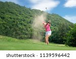 Golf Women.  Cheerful Happy...