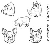 set of pig illustrations. pork... | Shutterstock .eps vector #1139597258