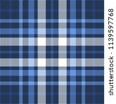 plaid check patten in dark navy ... | Shutterstock .eps vector #1139597768