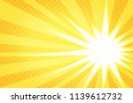 white sun yellow pop art... | Shutterstock .eps vector #1139612732
