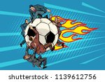 the football is flying like a... | Shutterstock .eps vector #1139612756