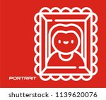 photo frame portrait vector... | Shutterstock .eps vector #1139620076