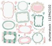romantic vintage frames | Shutterstock .eps vector #113962102