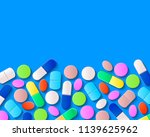 various pills  tablets and... | Shutterstock .eps vector #1139625962
