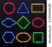 realistic glowing neon frames.... | Shutterstock .eps vector #1139630438