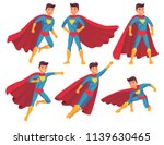 cartoon superhero character.... | Shutterstock .eps vector #1139630465