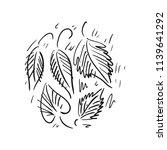 leaves. sketch. vector... | Shutterstock .eps vector #1139641292