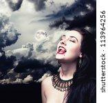 Vampire On Black Background