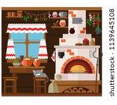 interior of russian village...   Shutterstock .eps vector #1139645108