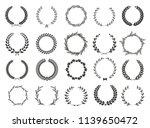 set of laurel wreaths. heraldic ... | Shutterstock .eps vector #1139650472