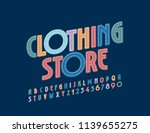 denim font with text clothing... | Shutterstock .eps vector #1139655275