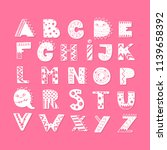 vector lettering alphabet with... | Shutterstock .eps vector #1139658392