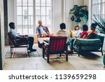 group of multicultural young... | Shutterstock . vector #1139659298