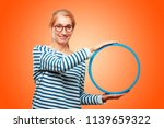 senior beautiful woman with a... | Shutterstock . vector #1139659322